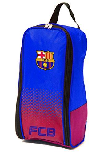 Bolsa para botas de fútbol, diseño de un equipo de fútbol, con cremallera y asa (varios clubes disponibles), color Barcelona FC, tamaño 16x10x36cm