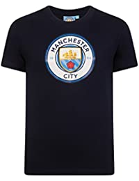 Manchester City FC Official Football Gift Mens Crest T-Shirt