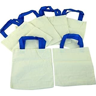 Plain Cotton Bags - 22cm x 22cm (6) by Anthony Peters Manufacturing