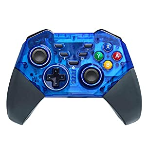 JFUNE Wireless Controller für Nintendo Switch 9.0, Pro Controller Bluetooth Gamepad Controller Doppelmotor Axis Gyro Turbo Kompatibel mit Nintendo Switch/PC (Blau)