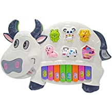 Popsugar Cow Music Organ Set with 3 Lights, White