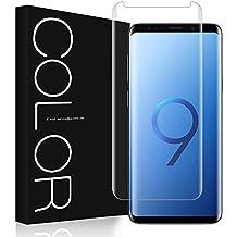 G-Color Galaxy S9 Plus Protector Pantalla, [Alta Viscosidad], Cristal Vidrio