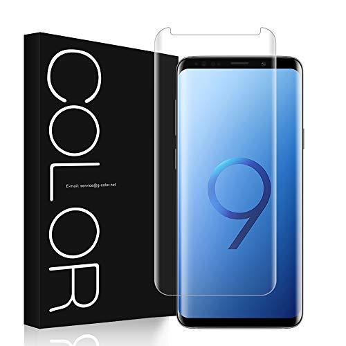 G-Color Pellicola Vetro Galaxy S9+/Plus, Pellicola [3D Vetro Temperato] Trasparente Pellicola Vetro [Alta Definizione] per Samsung Galaxy S9+/Plus-(Garanzia a Vita)
