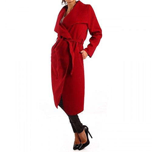 Cappotto da donna con cintura Stile professionale Rot