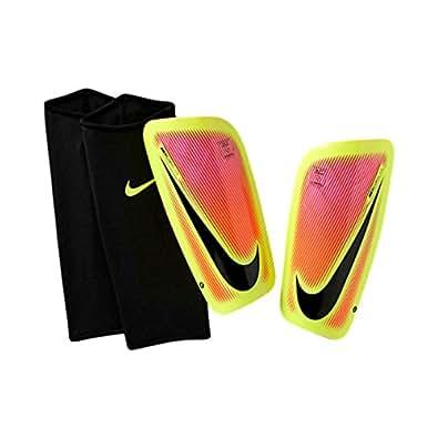 Nike Mercurial Lite Soccer Shin Guards Pink Blast/Volt/Black Large