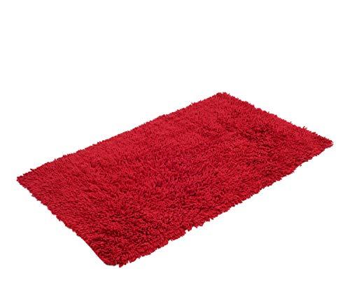 Gözze 1010-4999-74 tappeto a pelo lungo, cotone, 60 x 100 cm, rosso