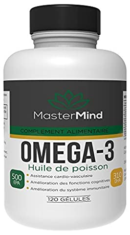 Omega-3 Fish Oil - 120 Softgels - 2000 MG - EPA 1000mg + DHA 620mg (2 soft gels) - Omega 3 supplement - certified laboratory, Cardiovascular Support, Improve cognitive function, Increase Immune system.