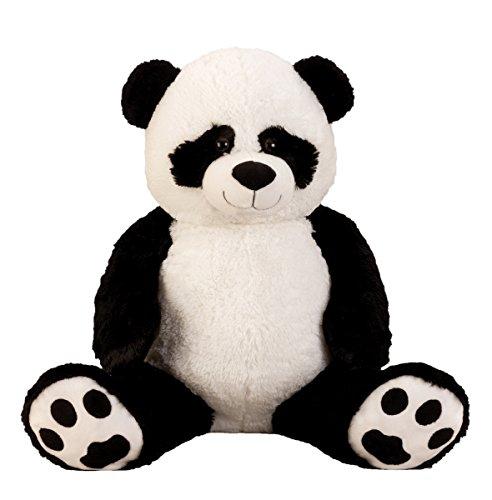"""XXL Panda Bär """" Bernd """" 1m Teddybär Kuschelbär 100 cm Kuscheltier Stofftier Pandabär Teddy"""
