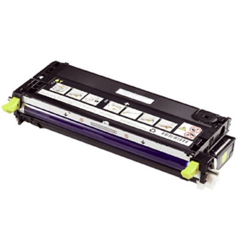 Bargain Dell High Capacity Yellow Toner Cartridge (Yield 9,000 Pages) for Dell 3130cn Colour Laser Printers on Line