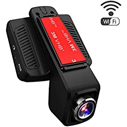"TOGUARD Auto Kamera,Dash Cam,2.45"" LCD, WiFi WLAN, Unauffällige Dash Cam, FullHD 1080p Fahrzeug Auto Kamera, DVR Rekorder, Bewegliches Objektiv, G-Sensor, Loop Aufnahme, Parkmonitor"