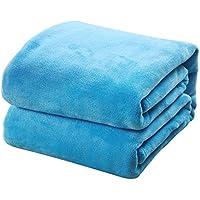 TREESTAR Mantas de bebé para niños otoño e Invierno bebé recién Nacido Copo de Nieve pequeña Manta de Pelo Manta de Siesta Size 50 * 70CM (Light Blue)