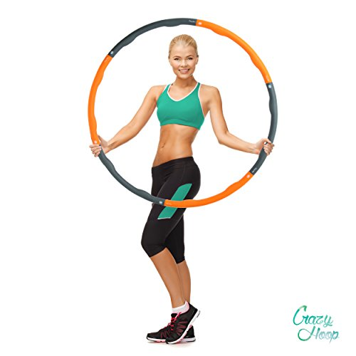 Crazy Light (Ocean 5 Crazy Hoop Light Hula Hoop Reifen, 1,2 kg Fitnessreifen mit Schaumstoff, Bauchtrainer zum Abnehmen)