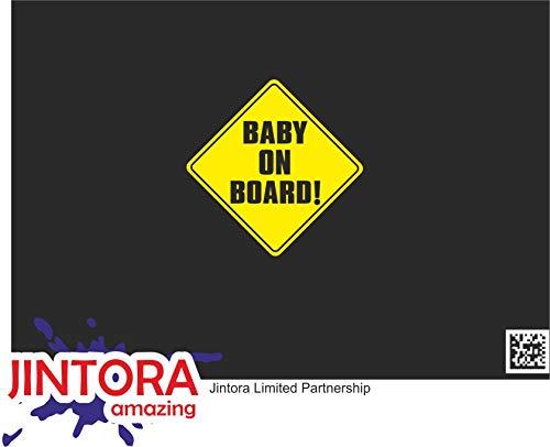 JINTORA - Baby on Board! - Pegatina Vinilo Impreso para Coche, Carpeta,...