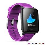 AXDNH Männer-Uhren-Sport-Positionierung Bluetooth-Herzfrequenzmonitor Pedometer Aufladen Clip-Ladegerät-Support-System Android 4,3 oder IOS 7,0 oder über Smart Armband,Purple