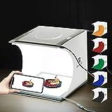 Kit per studio fotografico portatile PULUZ 24 x 23 x 22 cm Pannello luminoso pieghevole Pannello illuminato a LED senza ombra con 6 sfondi per la fotografia di piccoli prodotti