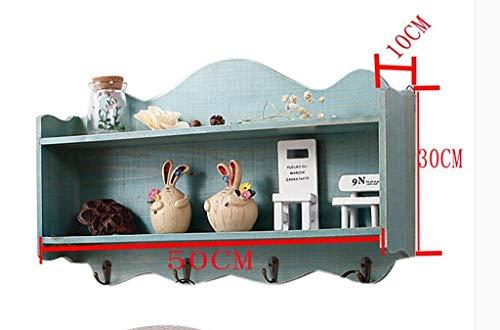 YANG Retro Regal Wandschrank Schließfach Dekoration Schlüssel Set Regal Wand Mini Schrank 50 * 10 * 30 cm,Blau - Master-schlafzimmer-möbel-sets