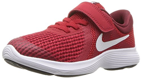 Nike - Revolution 4 (PSV) Unisex-Kinder, Rot (Gym Red/White - Team Red - Black), 17 EU W Kleines Art - 2 Revolution Mädchen Nike