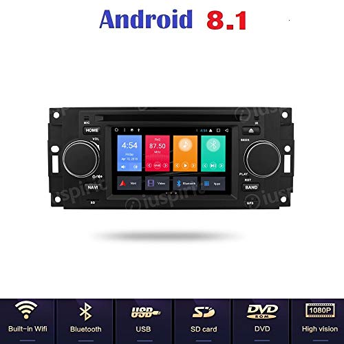 ANDROID 7 1 GPS DVD USB SD WI-FI MirrorLink Bluetooth autoradio navigatore  Jeep Compass Jeep Commander Jeep Grand Cherokee Jeep Wrangler Chrysler 300