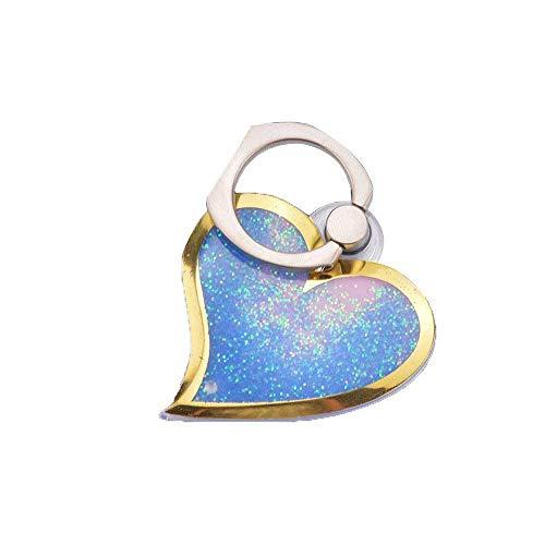 Powbbatt beautiful design quicksand bling del telefono a forma di cuore anello e supporto portatile per iphone 8, iphone x, note 8e smartphone (viola)