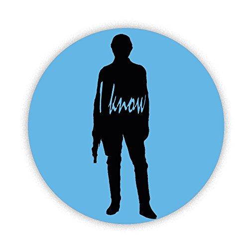 HAN SOLO–Ich weiß, bedruckt Bespoke entworfen 58mm Rund KOMPAKT Spiegel. Neuheit Make Up Spiegel ideal für Ihre Handtasche. Geschenke ()