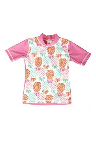 Banz Kurzarm Badeshirt UPF 50+ UV Schutz Rash Guard für Kinder, Ananas, 2 Jahre.