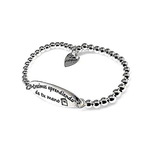 Act 925m Silber Armband elastische Bälle Lehrer - Lehrer Armband Silber