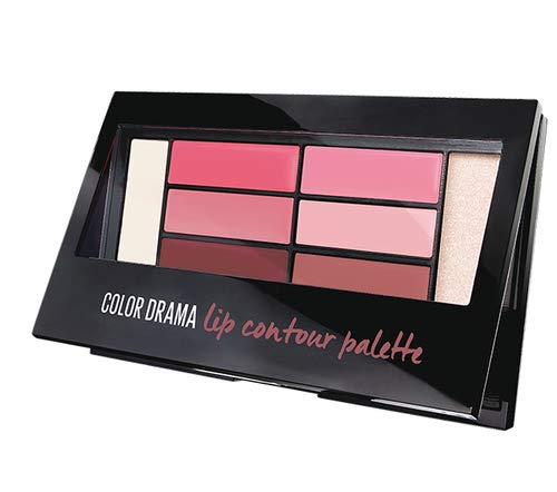 Maybelline New York Color Drama LIP Contour Palette Rossetti Contouring, Blushed Bombshell