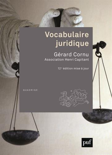 Vocabulaire juridique (Quadrige) por Collectif