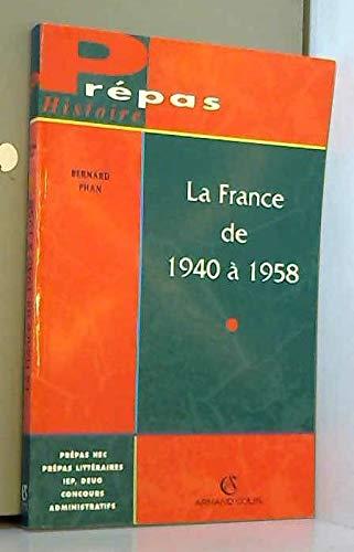 LA FRANCE DE 1940 A 1958. Vichy et la IVème République