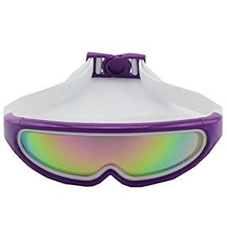Outdoor swimming adult swimming goggles colorful electroplating antifogging silicone head integrated large box (Violet)