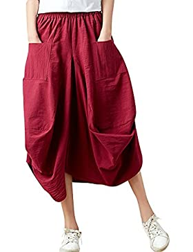 Holgada Hippie Aladdin Yoga Harem Ancho Pierna Pantalones Capri Para Mujer