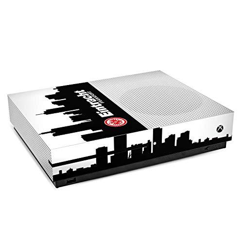 DeinDesign Skin Aufkleber Sticker Folie für Microsoft Xbox One S Eintracht Frankfurt Fanartikel Sge Fußball