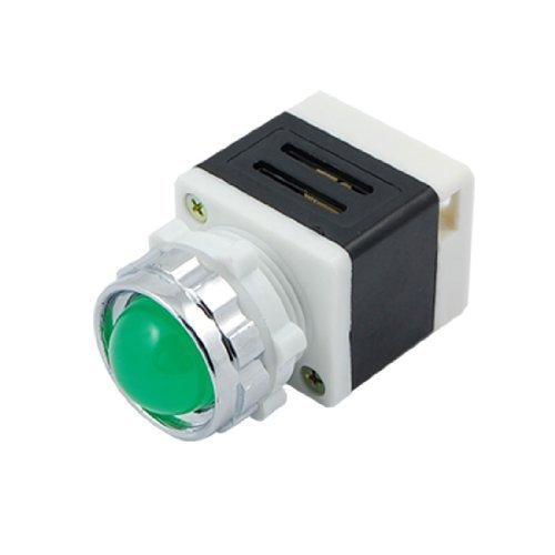 DealMux a10050700ux0271 220V LED-Signalanzeige Pilot Lampe AD11-25 / 40-1G, Green Light (Light Pilot Green)
