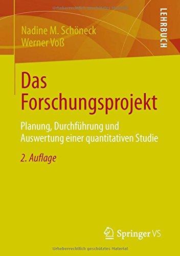 Das Forschungsprojekt: Planung, Durchführung und Auswertung einer quantitativen Studie