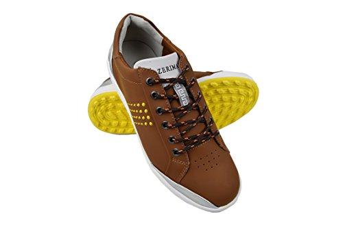 Zerimar Golf shoe fabriques dans la peau bovine sports et confortable Casual Running Couleur Tan Taille 45