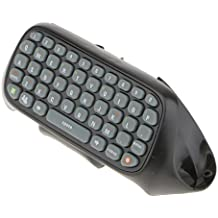 Segolike Black Wireles Chatpad Controller Attachment Keyboard For Microsoft Xbox 360