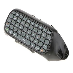 Wireless Tastatur Chatpad Keyboard (QWERTY) für Xbox 360 Controller – Schwarz