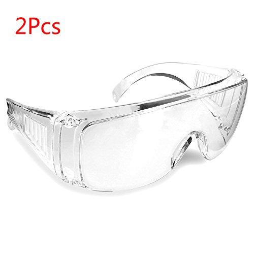Yalulu 2Pcs Kinder Verdickte Transparent Elastizität Elite Schutz Schutzbrille Brillen für Nerf Gun N-Strike Elite Series (Kinder Nerf-gun-brille)