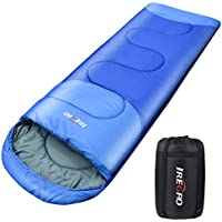 Sacos de Dormir, 1800g Saco de Dormir Cálido Rectangular Contiene Bolsa de Compresión, para Acampar en Clima Frío y Senderismo (220 x 80 cm)