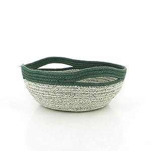 Korb Bowl mit Griffen grün | Geschenkidee | Handarbeit| Dekoration | Geschenk für Mama | Deko