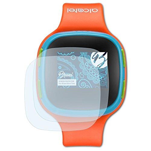 Bruni Schutzfolie kompatibel mit Alcatel Move Time Folie, glasklare Bildschirmschutzfolie (2X)