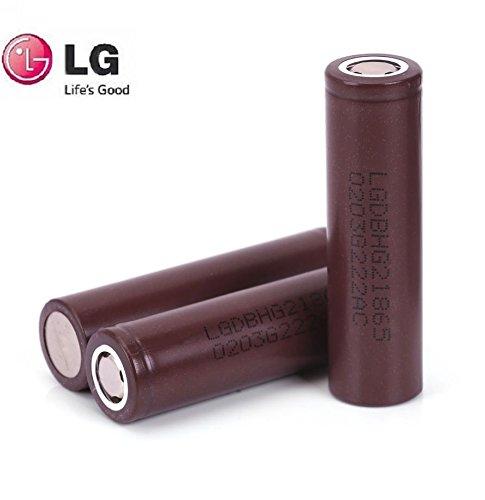 3x LG HG218650Akku, High-Drain, 20/30A 3000mAh, wiederaufladbarer Flat Top-Akku in echtem Pure Power-Akkugehäuse