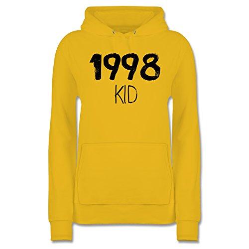 Geburtstag - 1998 KID - XXL - Gelb - JH001F - Damen Hoodie