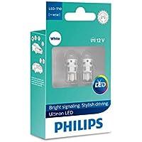 Philips Ultinon LED W5W 6000K Cool White Car Interior Bulbs (Twin) 11961ULWX2