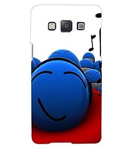 ColourCraft Funny Smilies Design Back Case Cover for SAMSUNG GALAXY A8