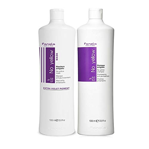 Kit No Yello Fanola Shampoo 1000 ml + Maske 1000 ml - Trockene Haut Pflege-kit