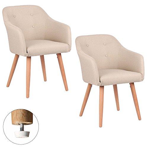 Kingpower 2/4/6/8 Set Stühle Esszimmerstühle Stuhl Sessel Armlehne versch. Farben, Auswahl:2 Sessel - beige
