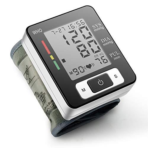 Fingertip Pulsoximeter Herzfrequenz Monitor Blut Sauerstoffsättigung SpO2Sensor LED Display mit Tragetasche, Landyard & Akku 1 * Wrist Blood Pressure White Monitor