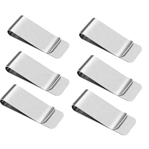 Yongbest fermasoldi,6 pezzi fermasoldi in acciaio inossidabile fermasoldi per carte di credito per uomo e donna documento fisso migliore regalo