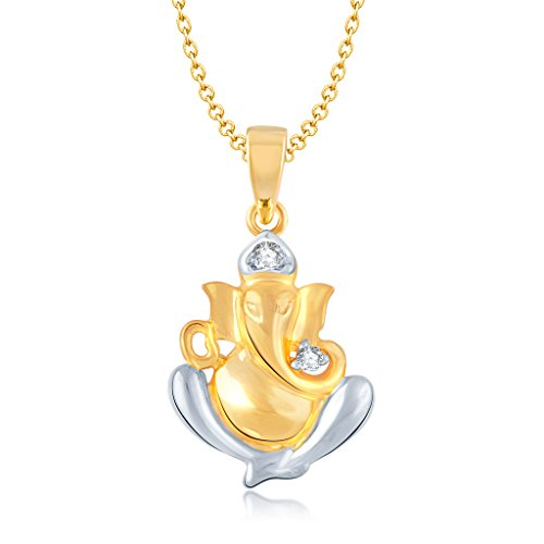 Vina Fashion Jewellery Religious Collection Gold Brass Alloy Cz American Diamond God Pendant for Men And Women Vkp1054Ga  available at amazon for Rs.113